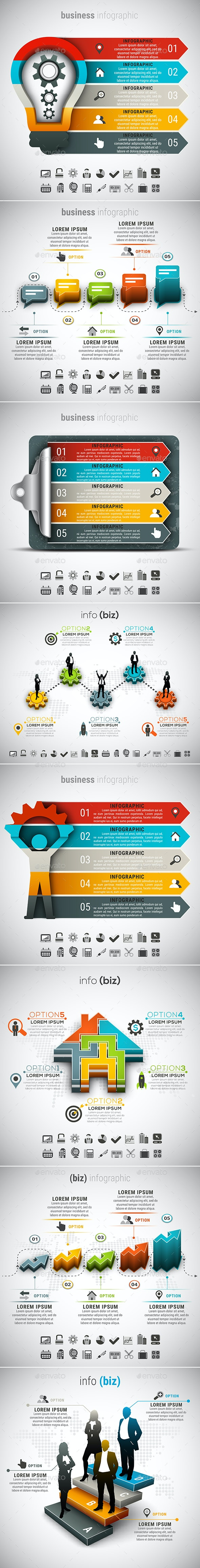 8 in 1 Business Infographics Bundle - Infographics