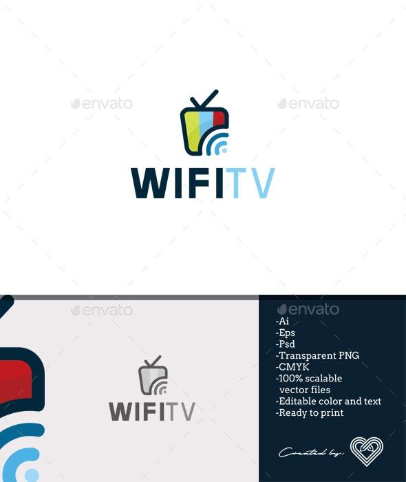 Wifi Tv - Objects Logo Templates