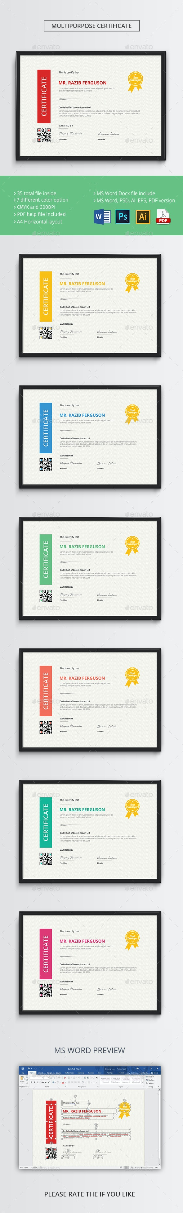 The Certificate - Certificates Stationery