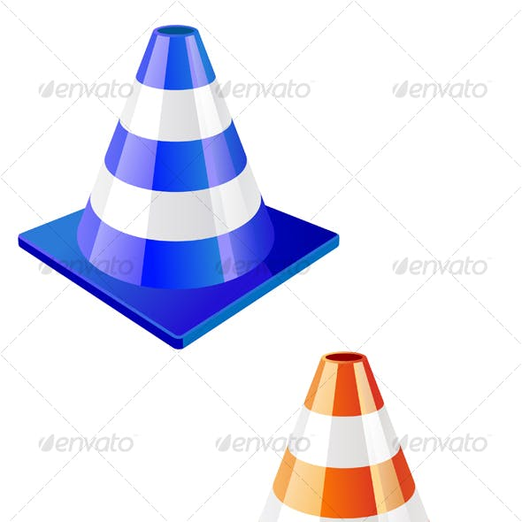Traffic cone in two colors