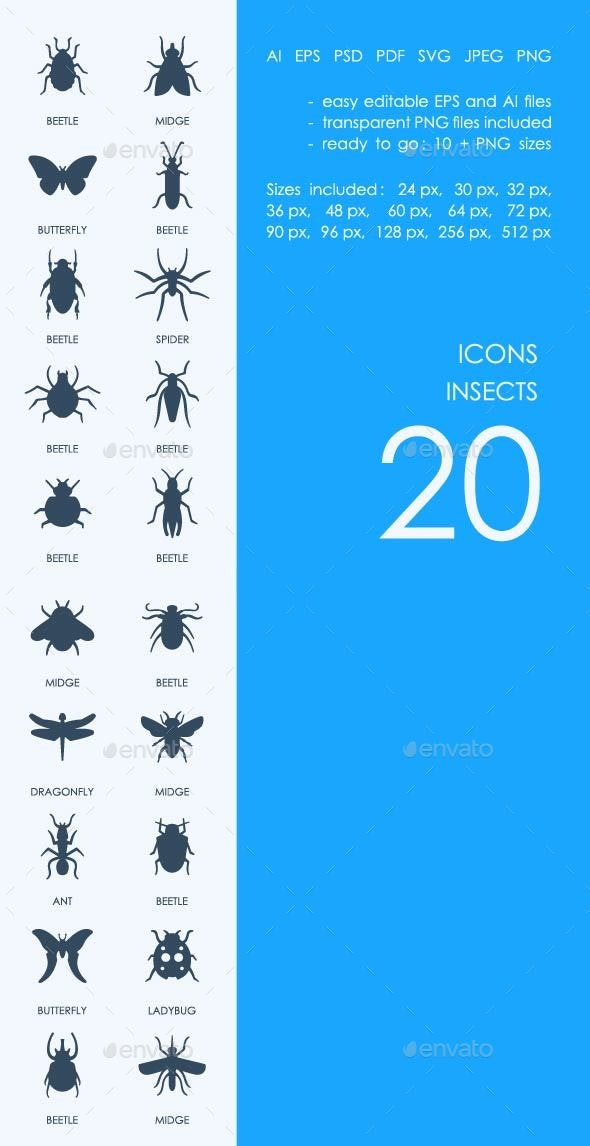 Insects icons - Animals Characters