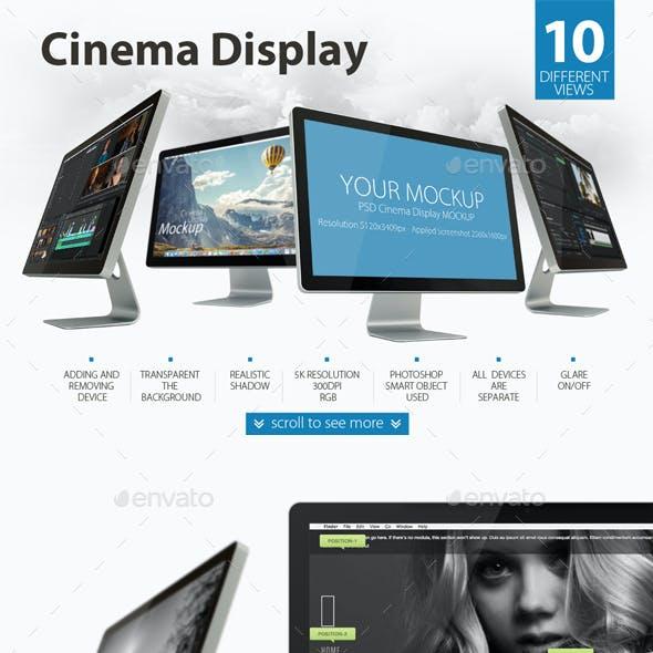 Cinema Display Mockup