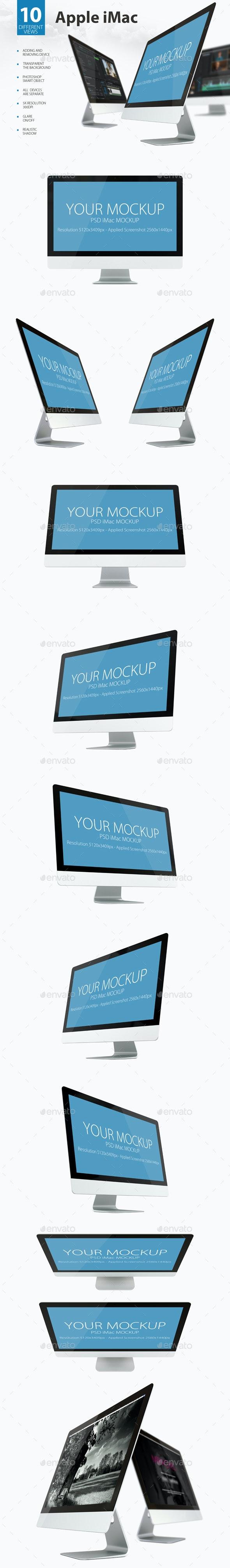 Mac Mock-ups - Monitors Displays