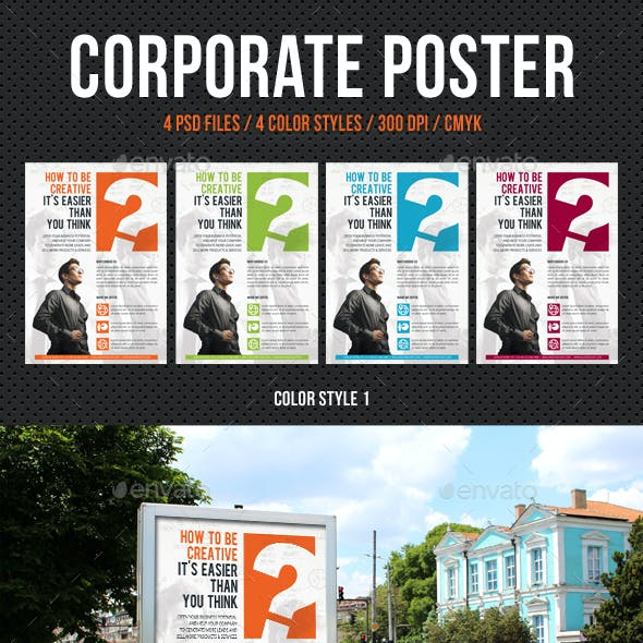 Corporate Business Poster Template V09