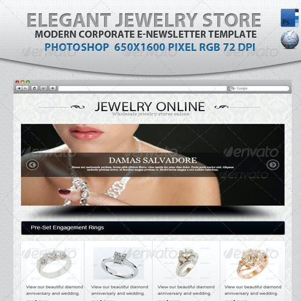 Elegant Jewelry Store E-newsletter