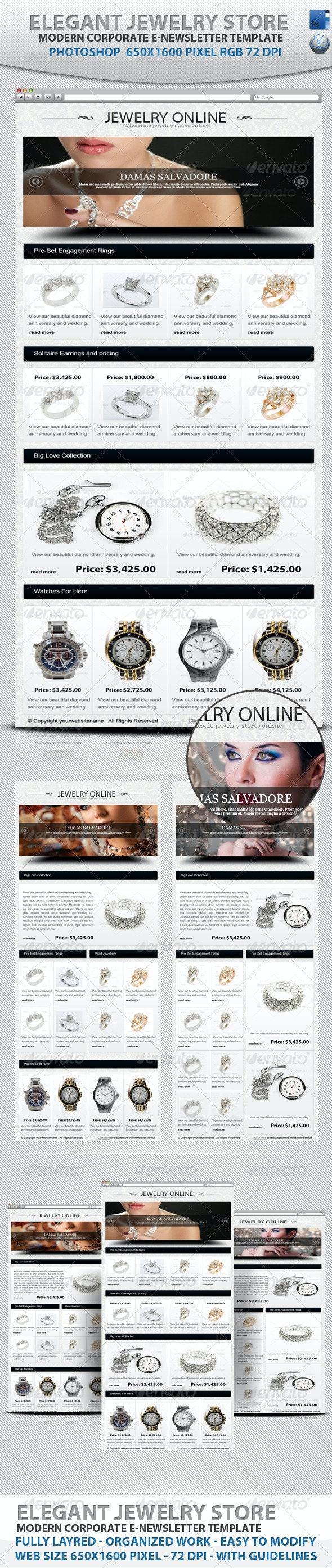 Elegant Jewelry Store E-newsletter