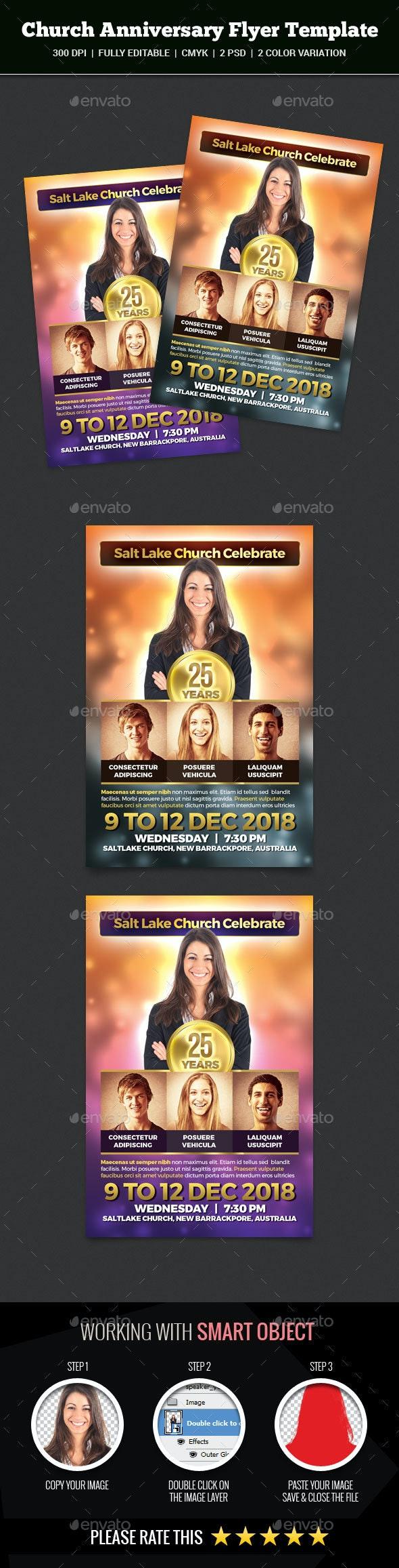 Church Anniversary Flyer - Church Flyers