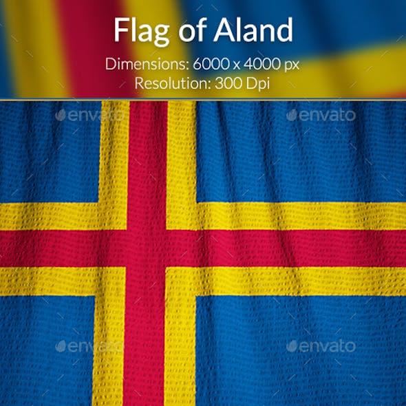 Ruffled Flag of Aland