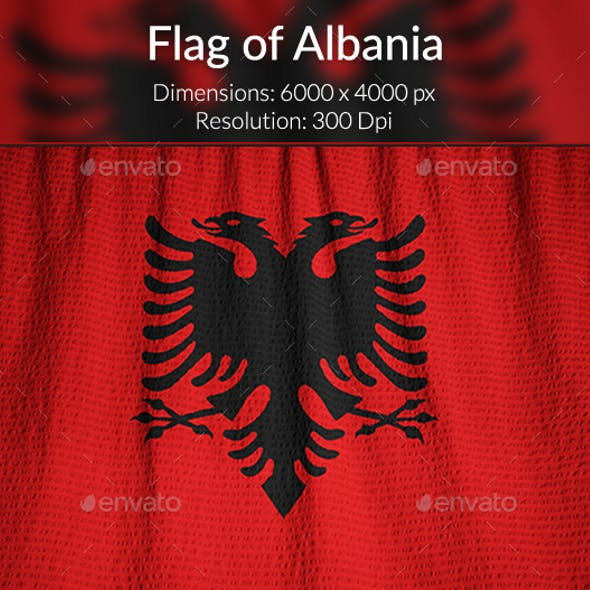 Ruffled Flag of Albania