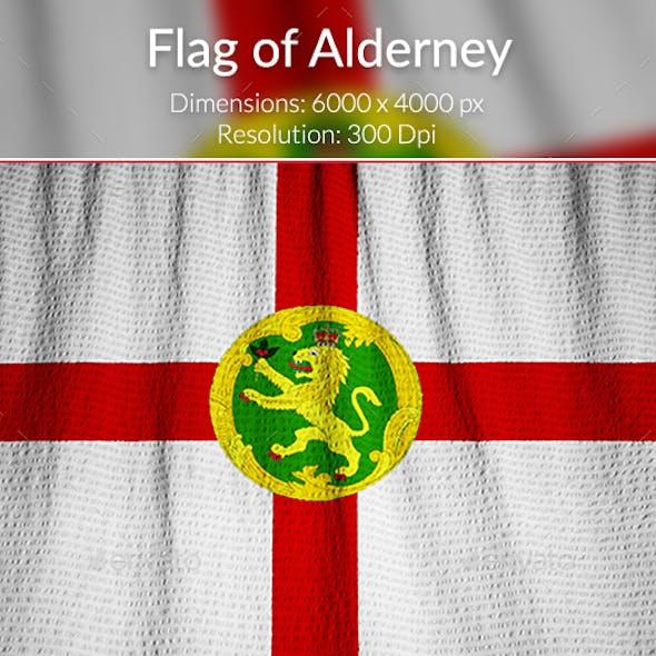 Ruffled Flag of Alderney