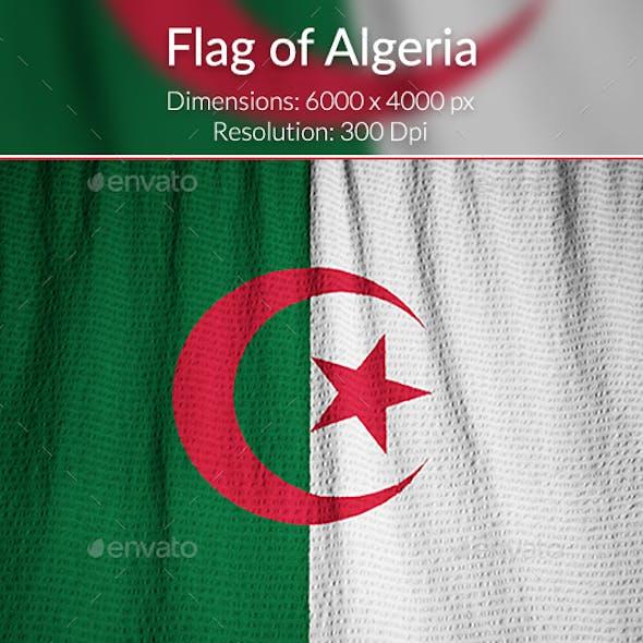 Ruffled Flag of Algeria