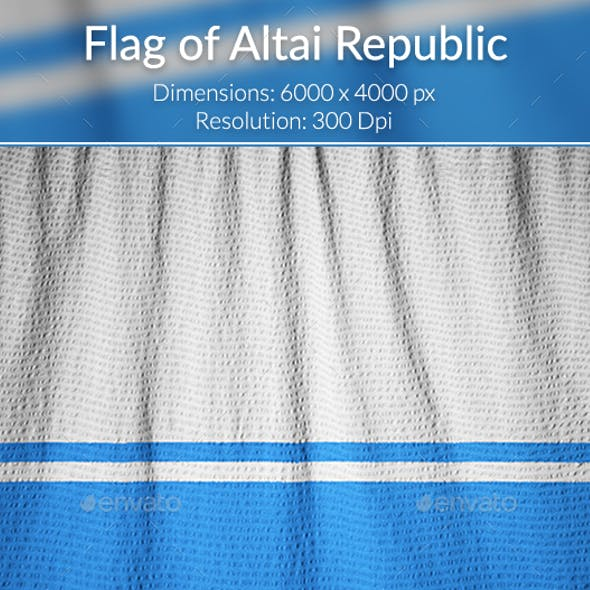 Ruffled Flag of Altai Republic