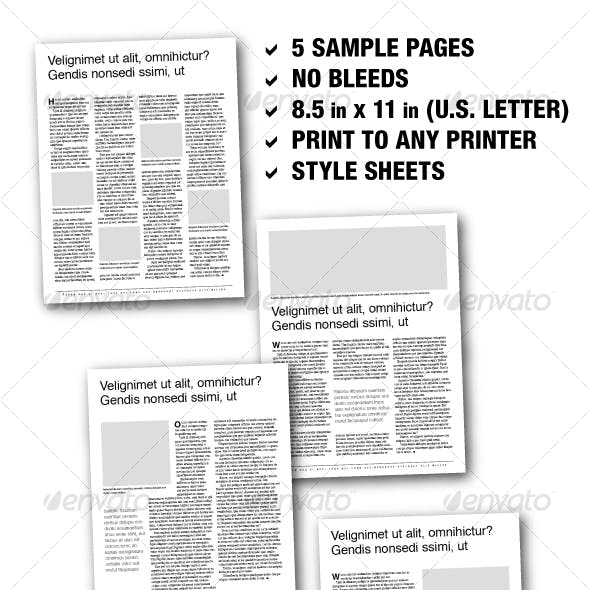 U.S. Letter Editorial Samplers 01 (5 pages)