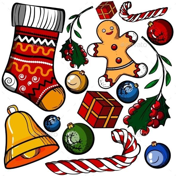Christmas Colored Toy Set - Christmas Seasons/Holidays