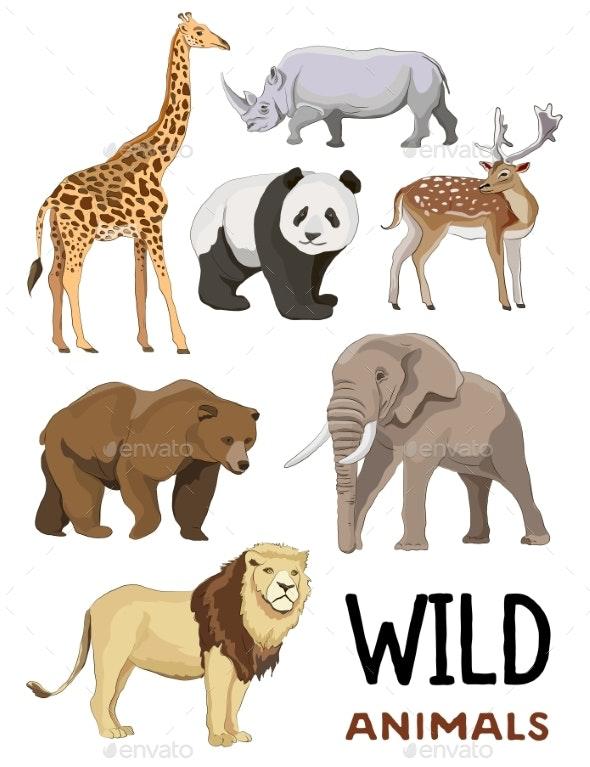 Wild Animals Set - Animals Characters
