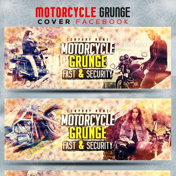 Motorcycle Grunge - Cover Facebook