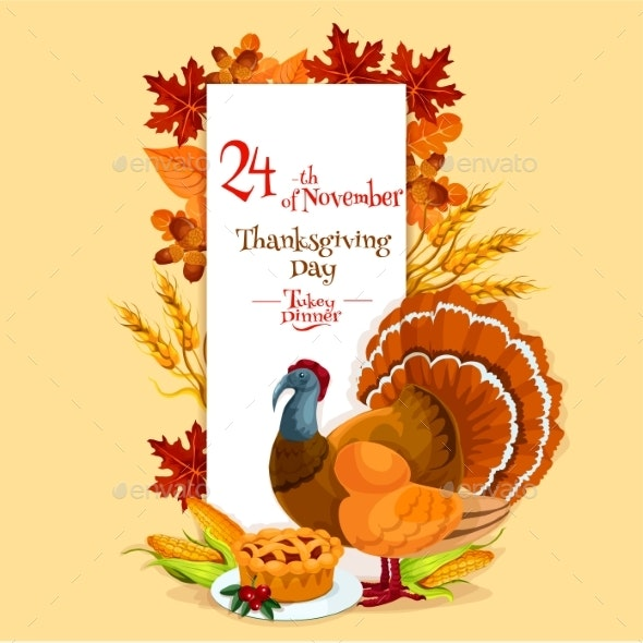 Thanksgiving Day Invitation Card Template - Miscellaneous Seasons/Holidays