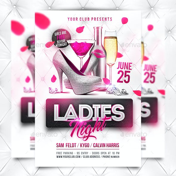 Ladies Night Party Flyer Template (+Facebook Timeline Cover)