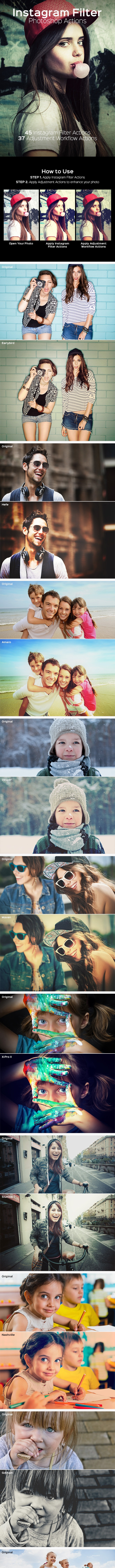 Instagram Filter - Photoshop Action - Photo Effects Actions