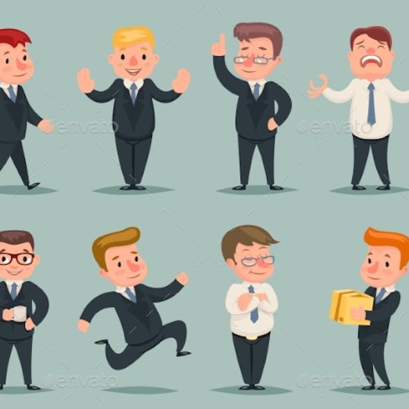 Different Positions and Actions Businessmen