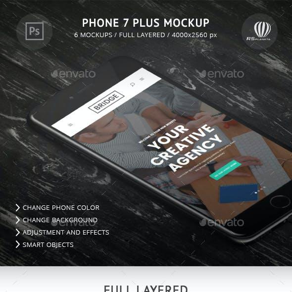 Phone 7 Plus Mockup