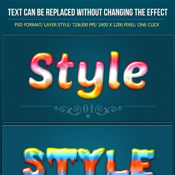Colorful Lovely Text Effects