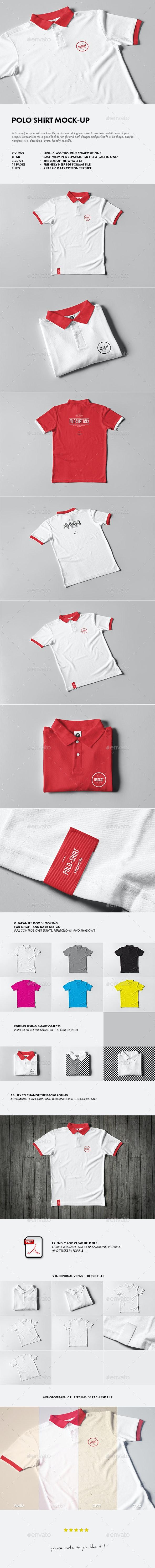 Polo Shirt Mock-up - T-shirts Apparel
