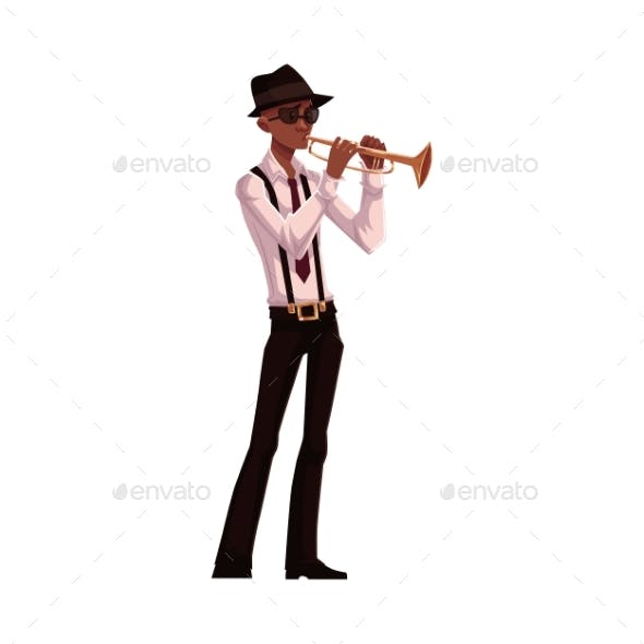 Young Male Trumpet Player