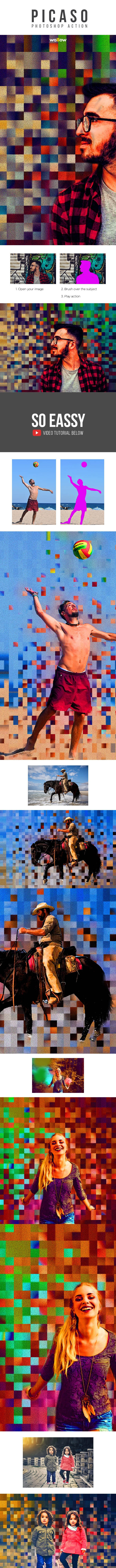 Picaso Photoshop Action - Actions Photoshop