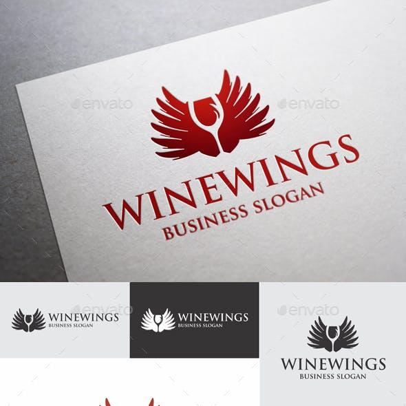 Wine Wings Elegant Logo