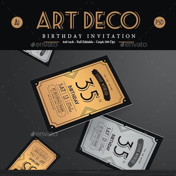 Deco Birthday Invitation