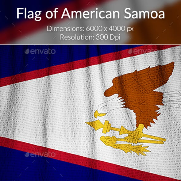 Ruffled Flag of American Samoa
