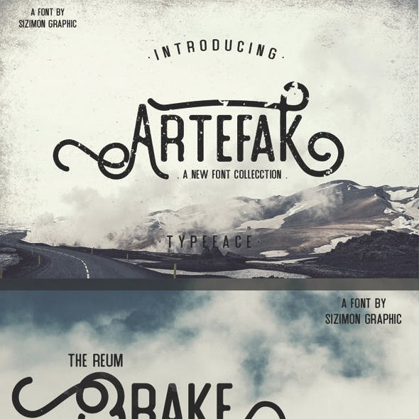 Artefak Typeface + Extras