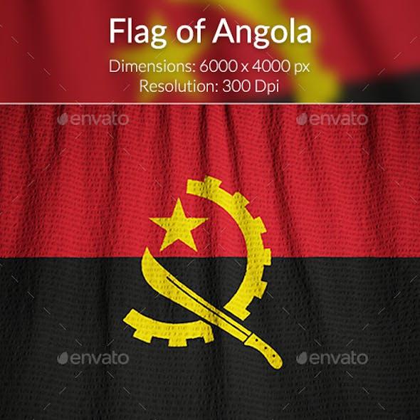 Ruffled Flag of Angola