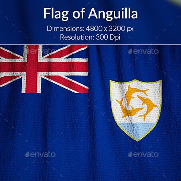 Ruffled Flag of Anguilla