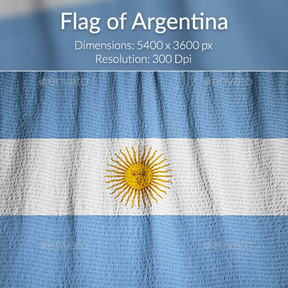 Ruffled Flag of Argentina