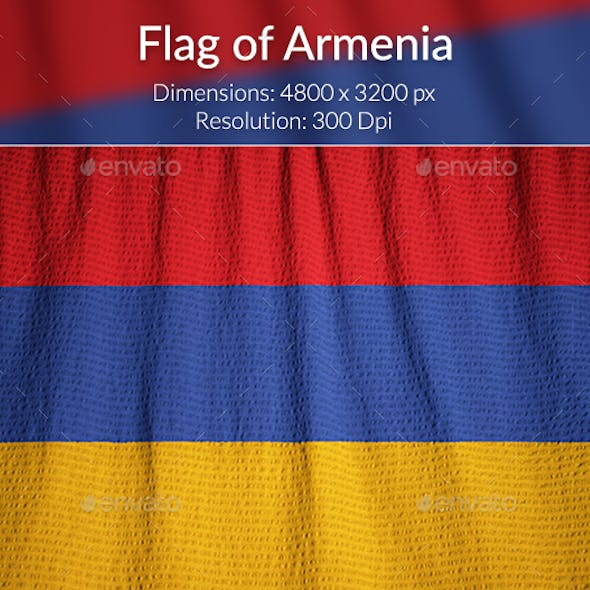 Ruffled Flag of Armenia