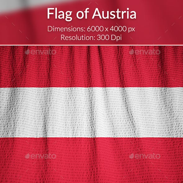 Ruffled Flag of Austria