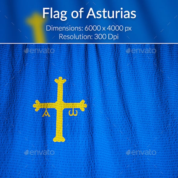 Ruffled Flag of Asturias