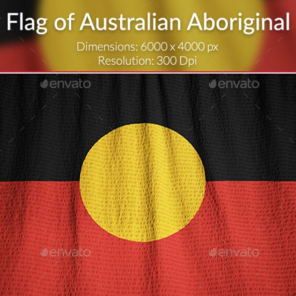 Ruffled Flag of Australian Aboriginal