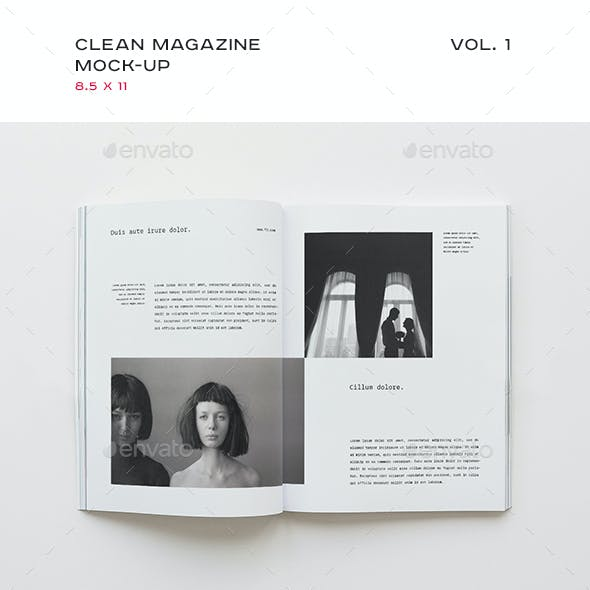 Clean Magazine Mock-up