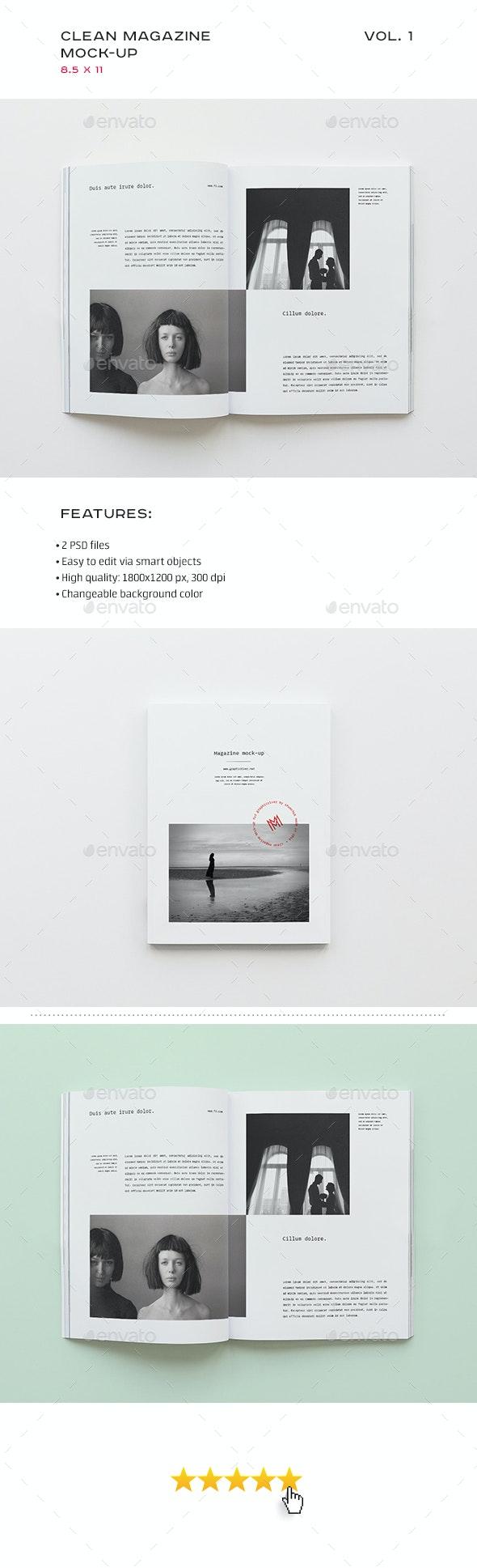 Clean Magazine Mock-up - Magazines Print