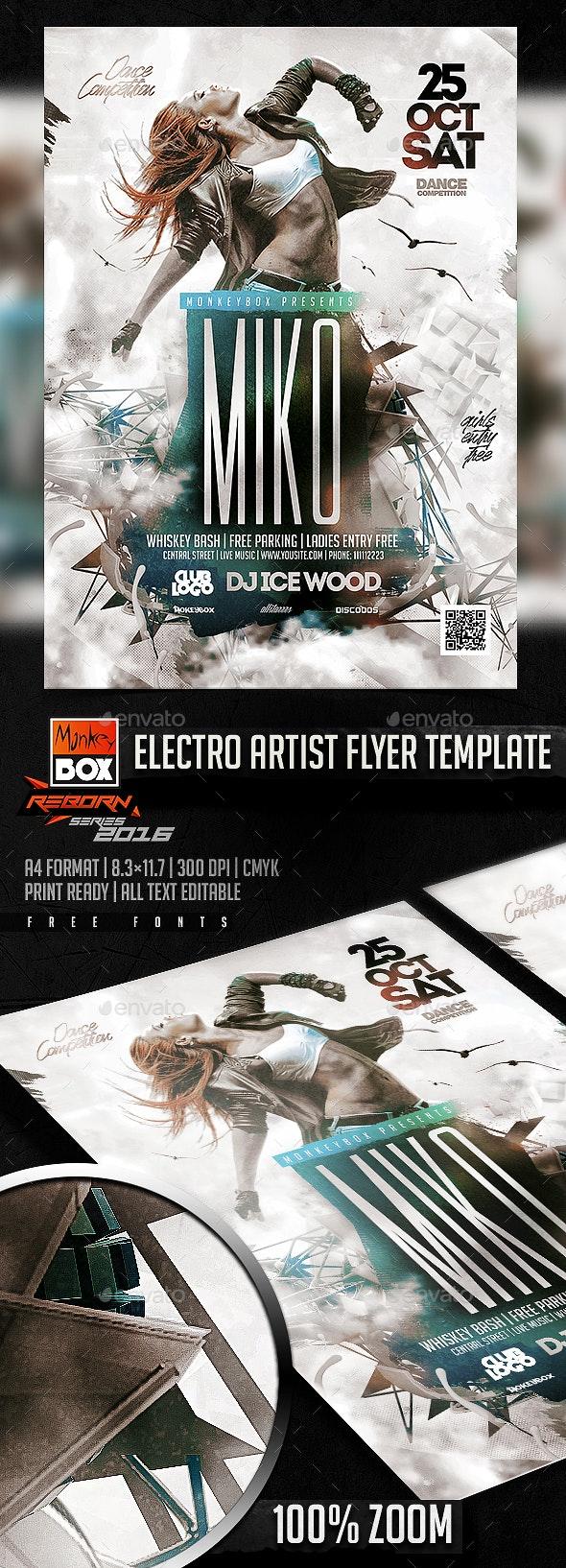 Electro Artist Flyer Template - Flyers Print Templates