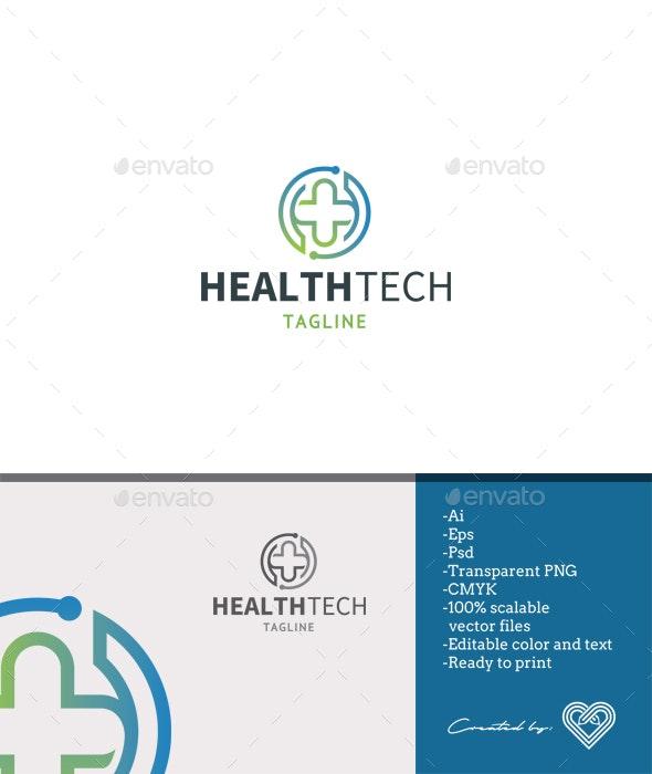 Health Tech Logo Template - Symbols Logo Templates