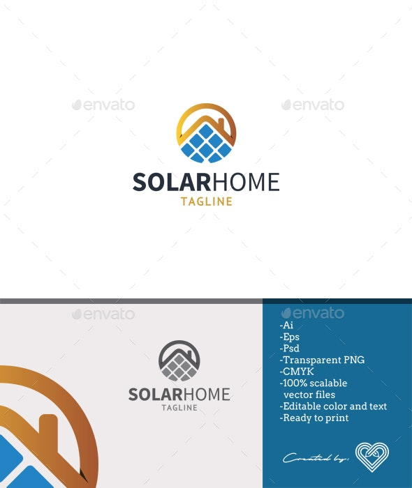 Solar Home Logo Template - Nature Logo Templates