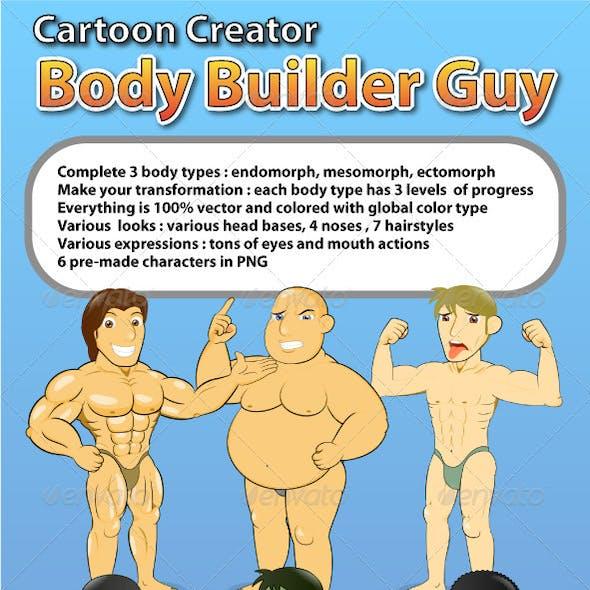 Cartoon Creator Body Builder Guy Creation Kit