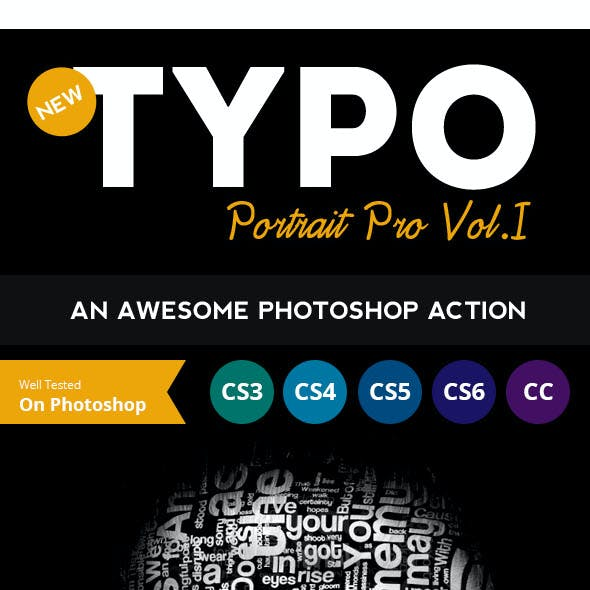 Typo Portrait Pro Photoshop Action