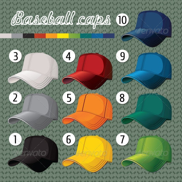 Baseball Caps - Man-made Objects Objects