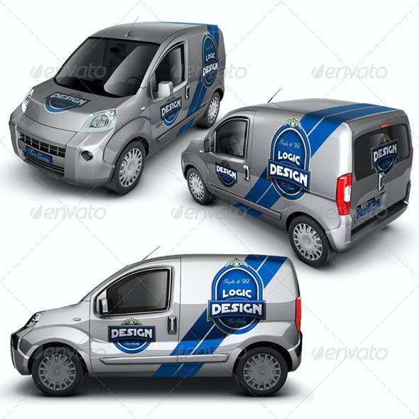 Minivan Car Mock Up