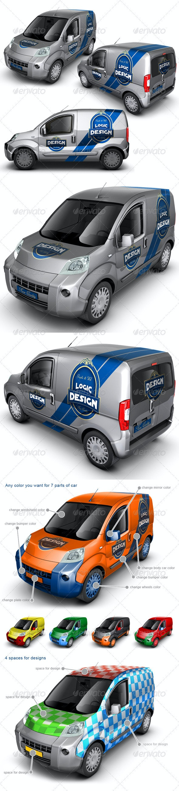 Minivan Car Mock Up - Vehicle Wraps Print